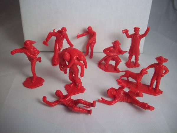 Marx Firehouse playset firemen,10 different, 2