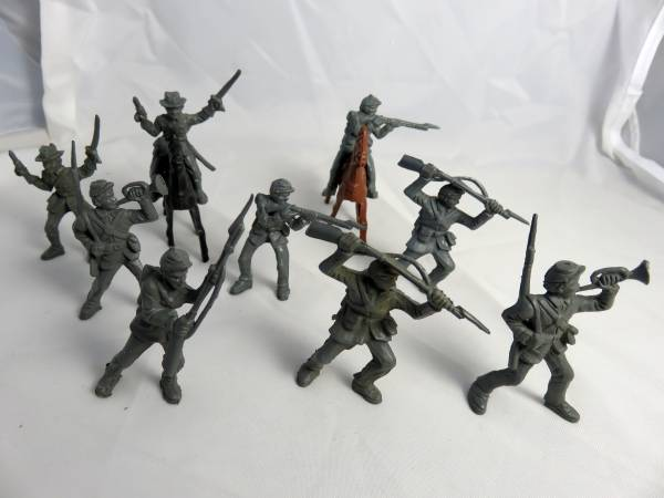 AMERICAN CIVIL WAR vintage 1950's CONFEDERATE SOLDIERS +HORSE BY LIDO