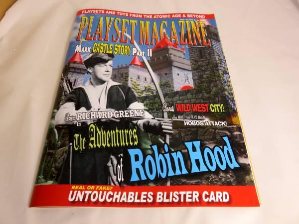 Playset Magazine #89, Marx Robin Hood +castle playsets