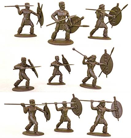 Expeditionary Force, Zulu in War Dress (married) 54mm