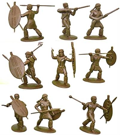 Expeditionary Force, Zulu's in War Dress (unmarried) 54mm