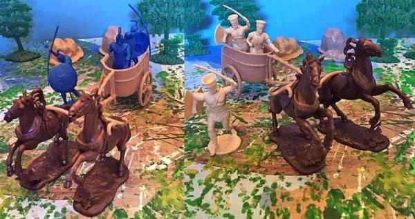 LOD Enterprises Trojan Wars Set #2, Includes 2 chariots and 6 figures (60mm)