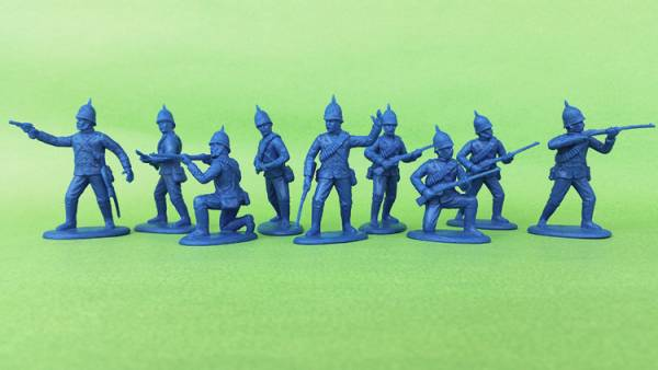 Expeditionary Force, Zulu War British Auxiliary Carbineers in Spiked Sun Helmets (dismounted) 54mm)