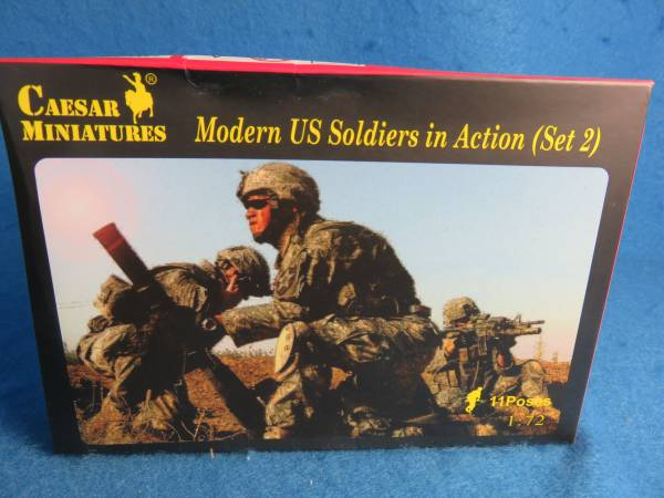 Caesar Modern U.S. Soldiers in Action Set #2 (#094) 19 figures plus 5 heavy weapons in 1:72 scale (25mm)