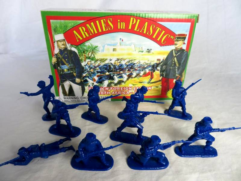 Foreign Legion North African (1900) 20 figures in 10 poses (blue) (5418)   <font color=#CC0000>(54mm) </FONT>