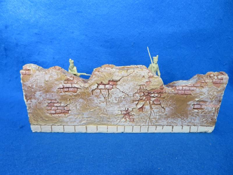 Barzso fortified Spanish hacienda wall section #1, hard foam