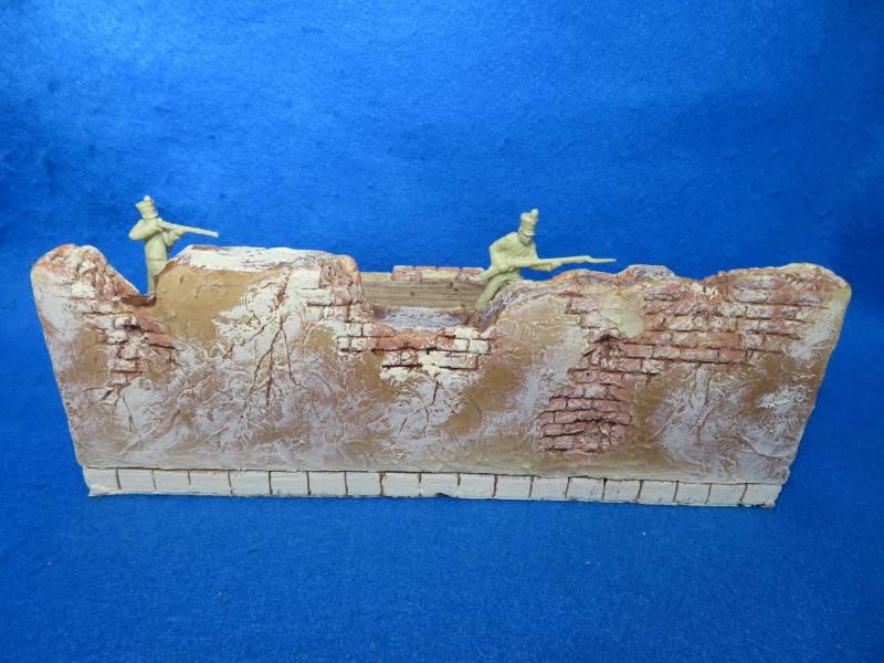 Barzso fortified Spanish hacienda wall section #2, hard foam