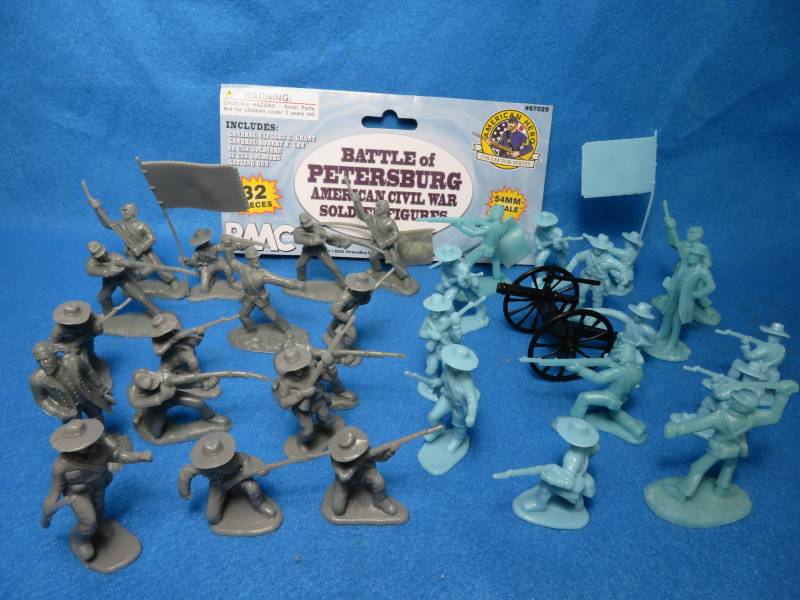 BMC Civil War Battle of Petersburg, 32 pcs, 54mm plastic