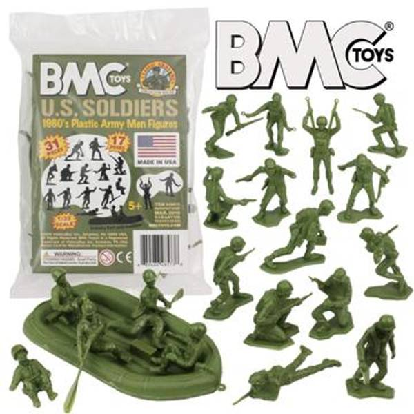 BMC/Marx WWII US Soldiers 31 pc's in OD Green