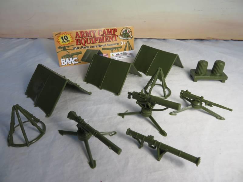 BMC735A Army Camp Equipment (54MM) 10 Pieces