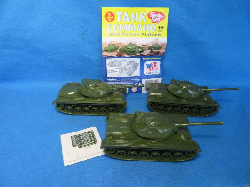 Tim Mee M48 Patton tanks X 3, 1/48, plastic