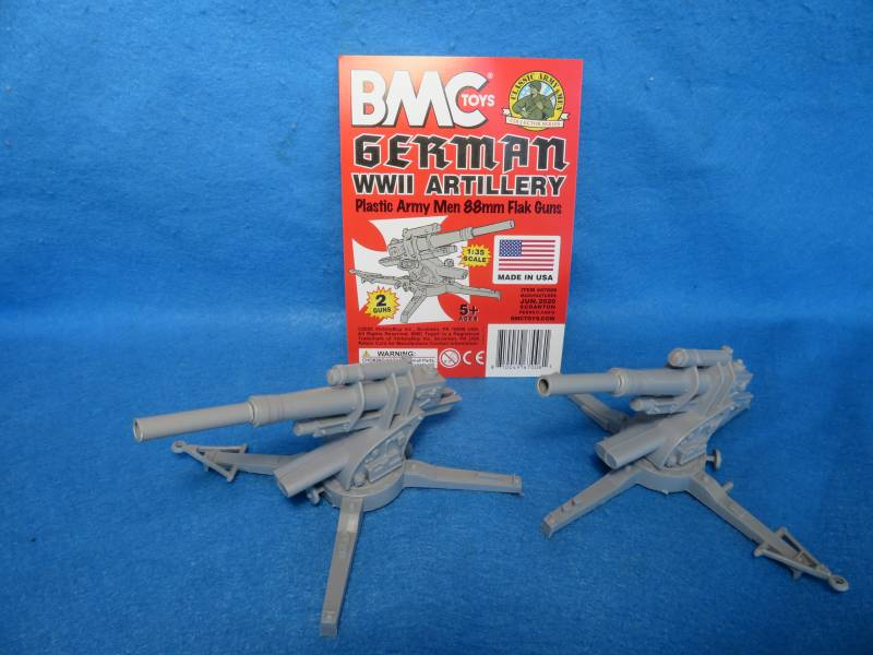 Marx WWII German 88mm gun X 2, 54mm, plastic