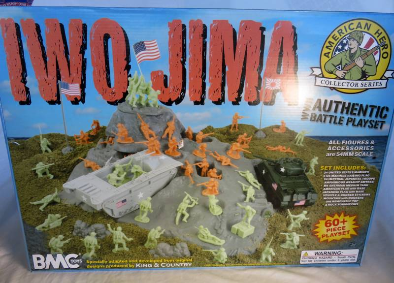 Iwo Jima Playset -- 52 pieces  (s&h $18)   <font color=#CC0000>(54mm) </FONT>