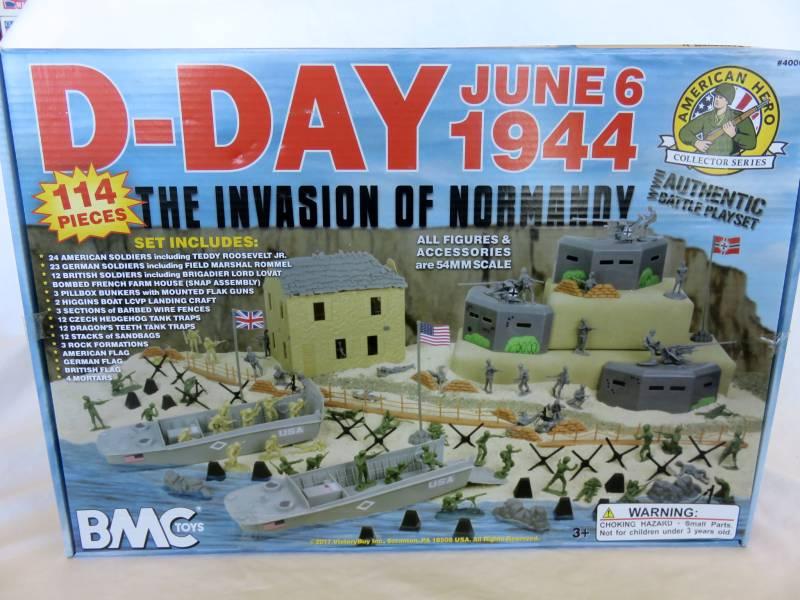 D-Day Playset -- 101 pieces (s&h $18) <font color=#CC0000>(54mm) </FONT>