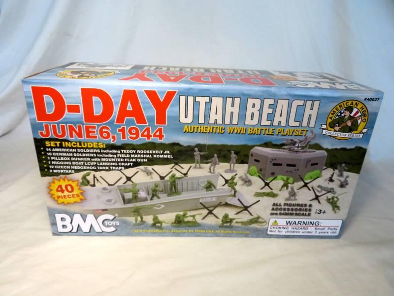 D-Day Utah Beach June 6, 1944 playset -- 41 pieces (s&h $12) <font color=#CC0000>(54mm) </FONT>