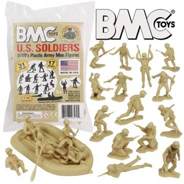 BMC WWII US Soldiers 31 pc's in TAN-1/32