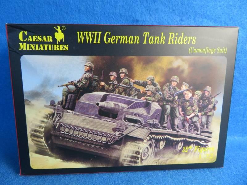 Caesar Miniatures, WWII German Tank Riders 1:72 Scale (099)