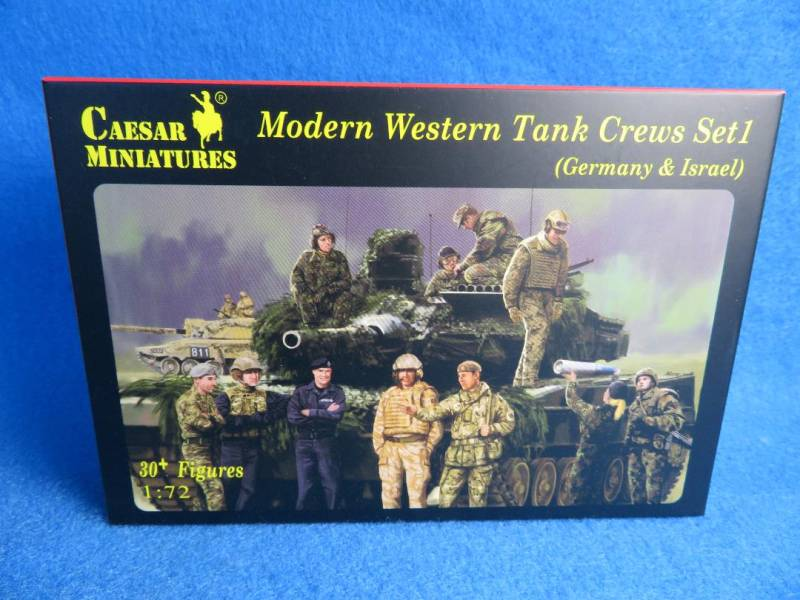 Caesar Miniatures, Modern Western Tank crews Set #1 1:72