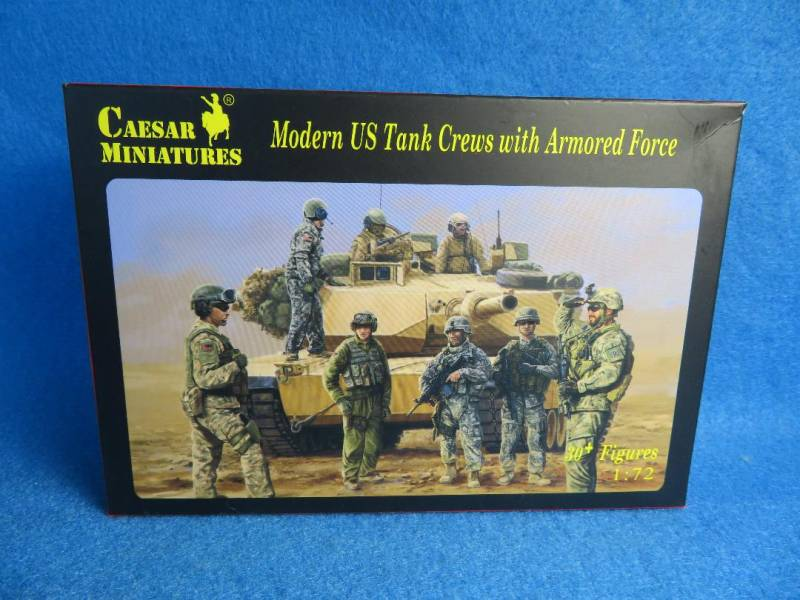Caesar Miniatures, Modern U S Tank Crews with Armored Force 1:72 scale (103)