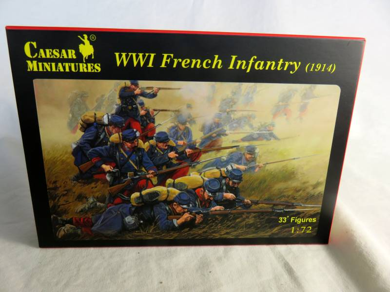 CMF034A WWI French Infantry (1914), (25MM) - 33 Figures