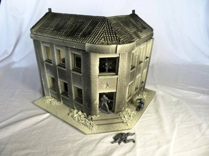 Classic Toy Soldiers, New Corner Street building, unpainted version