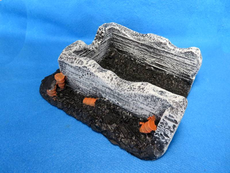 CTS WWII coal bin defensive position, hard foam, 10 1/2