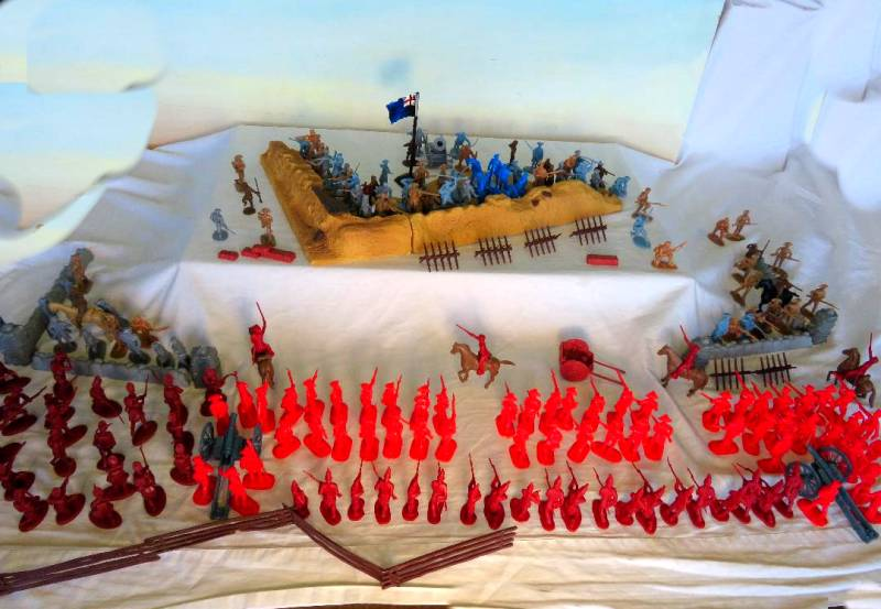 Battle of Bunker Hill Playset**** Over 220 pieces ($30.00) 54mm