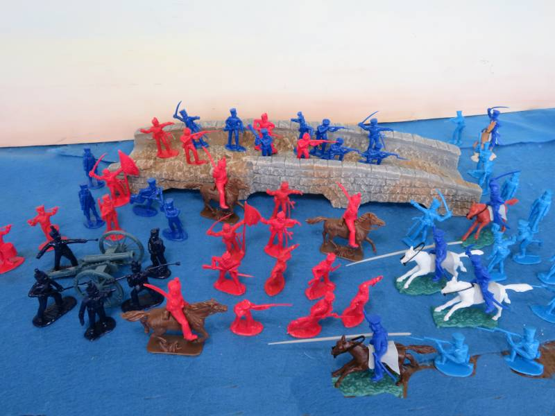 Napoleonic crossing the bridge battle set