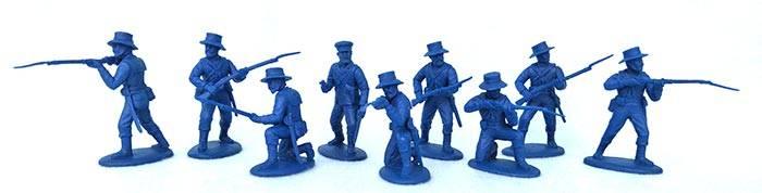 EPF152A ZULU Wars Naval Landing Party (Straw Hats) 9 figures (54MM)