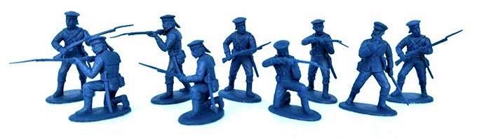 EPF153A Zulu Wars Naval Landing Party (54MM) 9 figures
