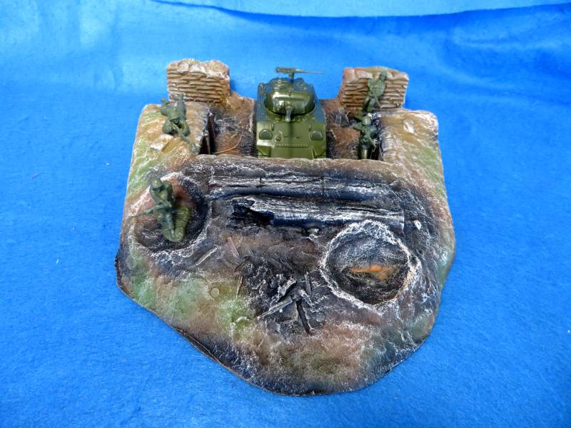 Formtech 54MM Tank Trench Emplacement painted