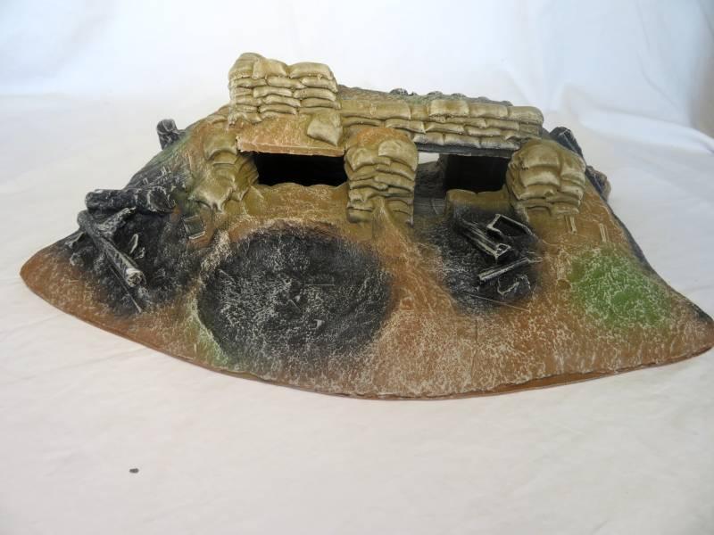 Forward Sandbag Machine Gun Bunker L16''x D10''x H4.5''   <font color=#CC0000>(54mm) </FONT>