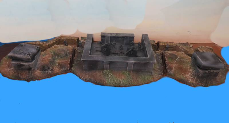 WWII German artillery coastal bunker, 3 piece, hard foam
