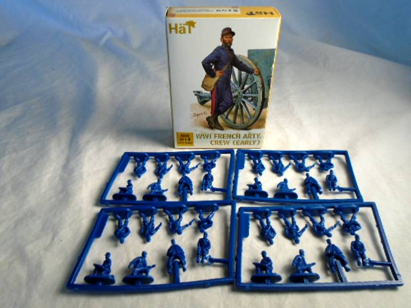 HAT: WWI French Artillery Crew 1:72 Scale (8159)