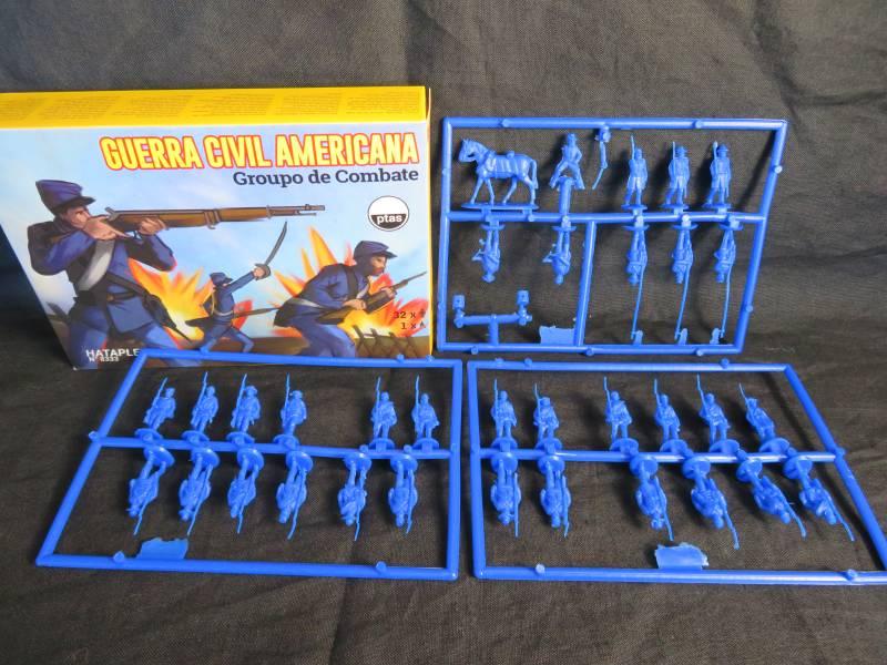 HAT8333 American Civil War combo set,33 figures + horse, HO