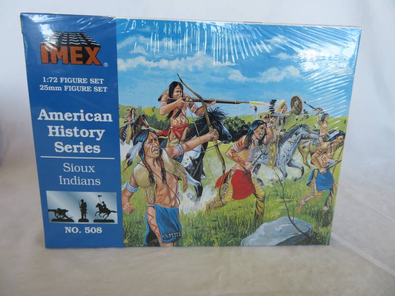 Imex #508 American Sioux Indians, 1/72, HO, 39 pieces