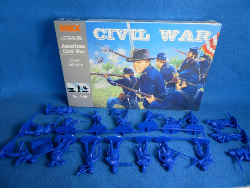 IMX705 Union Infantry (54MM) 18 in 18 poses (Blue)