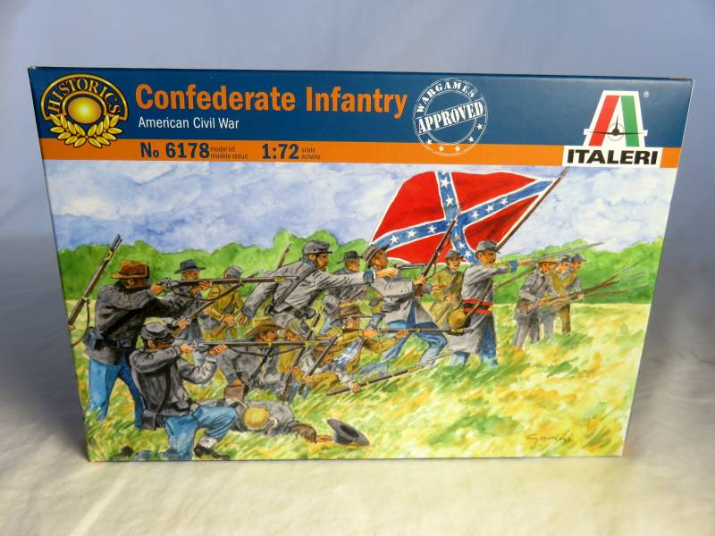 ITA0178A Civil War, Confederate Infantry (25MM) 50 Figures