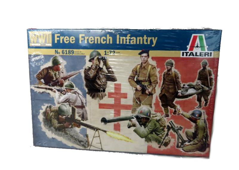 ITA0189A WWII Free French Infantry (25MM) 49 figures #6189