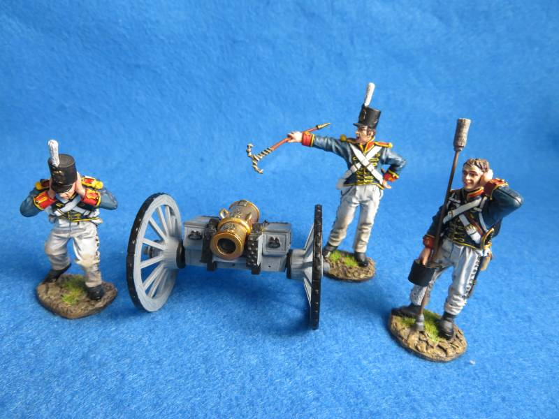 J.J.Designs British Foot Guards artillery and 3 man crew, metal, 1/30th