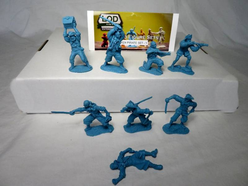 LOD024 Pirate set #1 (54MM) 8 in 8 poses