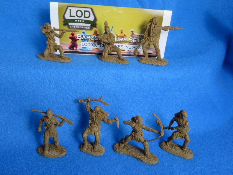LOD/Barzso Cherokee Indians 7 figures in 7 poses brown