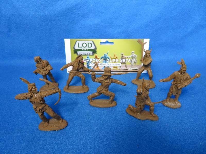 LOD/Barzso Blackfoot Indians ,resin 7 figures