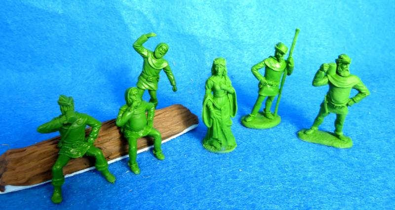 LOD047 Maid Marion and Merry Men, 6 figures, 54mm, green