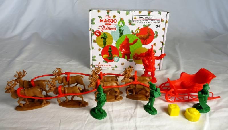 LOD, Santa Set: Includes Santa, 3 Elves, Sleigh, and 8 Reindeer