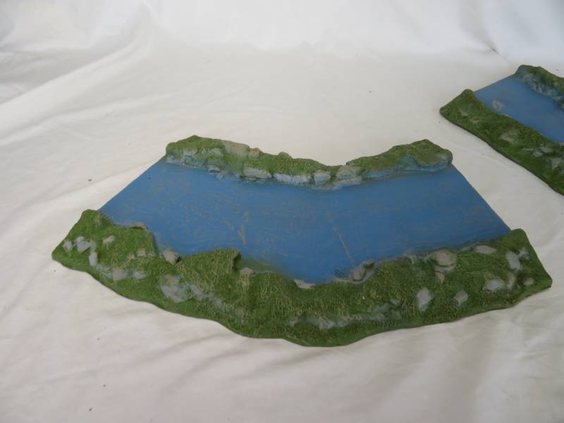 LOD Enterprises: Two Curved River Bed Sections Painted