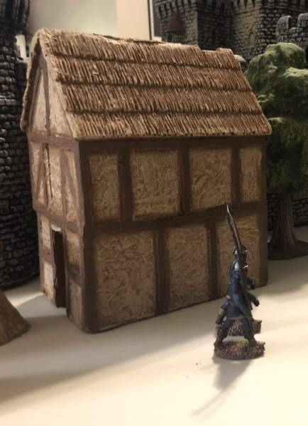 LOD Enterprises Small Medieval House painted
