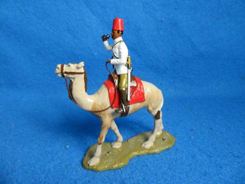 Little Legion Egyptain officer on camel, metal