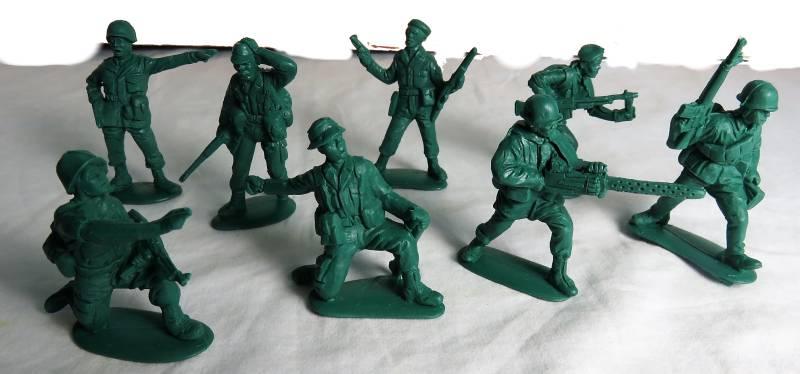 MAR110A Vietnam War - ARVN (South Vietn  amese) Infantry (54MM) 15 in 8 Poses #32009