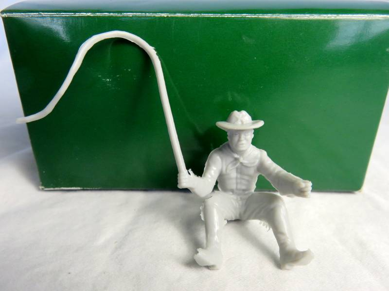Marx US Cavalry Wagon Driver with whip 1:32 in gray